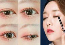 cách kẻ eyeliner cho mắt mí lót