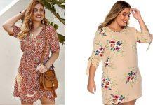 váy hoa nhí cho người béo