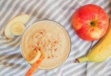 Công thức sinh tố từ chuối, táo và nước cam